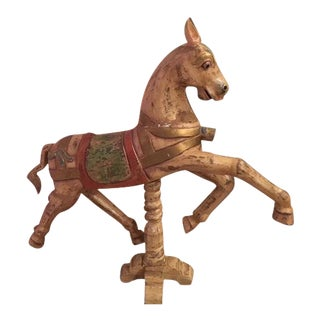 Antique Carousel Wooden Horse For Sale