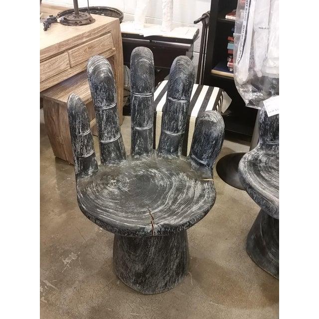 Black Teak Hand Shaped Chair - Image 2 of 6