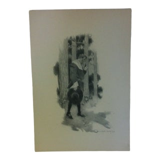 "Vintage Miles Standish Print ""In Thought"" by Howard Christy 1903 For Sale"