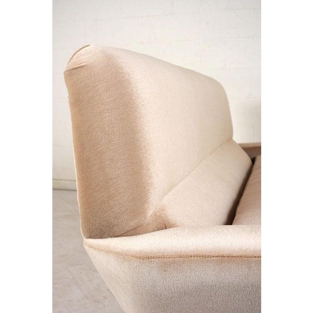White Italian Mid-Century Modern Sofa For Sale - Image 8 of 9