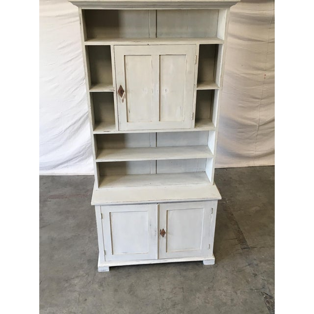 Mid-Century Modern Swedish Antique Wall Bookcase Cabinet For Sale - Image 3 of 8