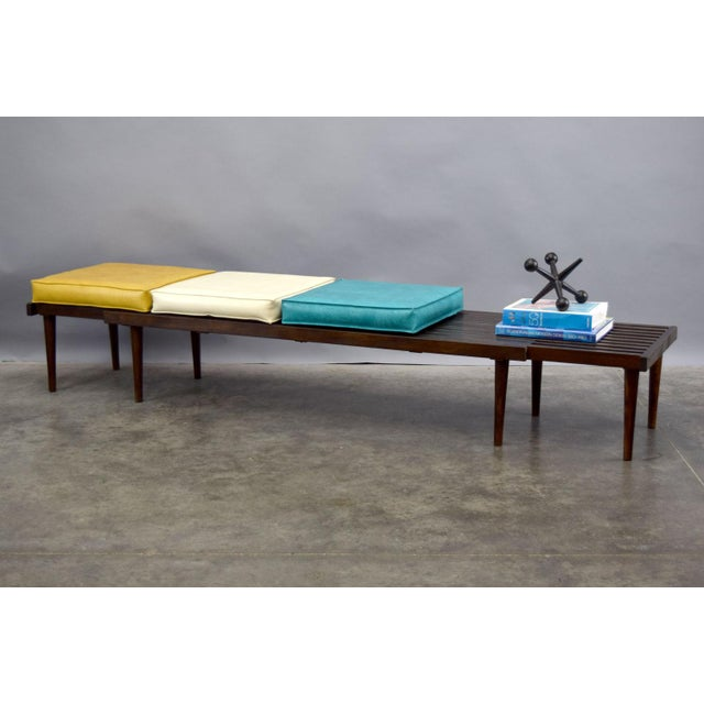 On Hold - John Keal for Brown Saltman Mid-Century Expandable Slat Bench or Table - Image 4 of 10