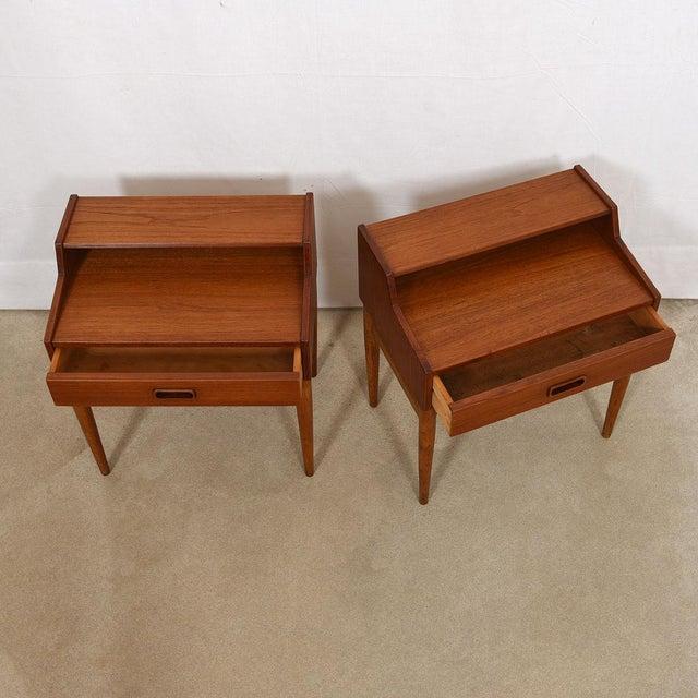 Arne Hovmand-Olsen Arne Hovmand-Olsen for Mogens Kold Teak Nightstands - a Pair For Sale - Image 4 of 8