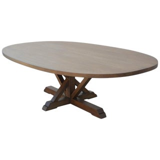 Arts and Crafts Ellipse Pedestal Dining Table For Sale