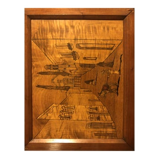 1960s Inlaid Marquetry Mosaic Wall Art For Sale