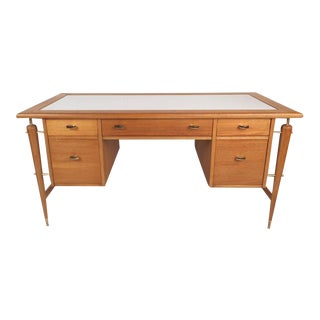 Mid-Century Modern Desk with a White Laminate Top by Imperial