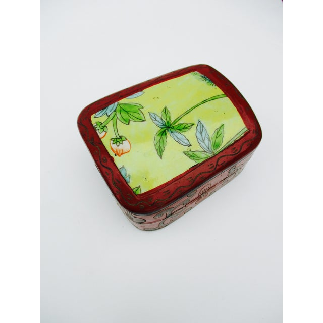 Asian Lacquer Porcelain Boxes - Set of 3 - Image 3 of 10