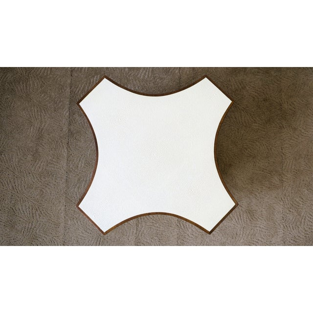 Contemporary Contemporary Shagreen Esque Side Table For Sale - Image 3 of 10