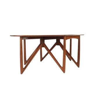 1960s Mid-Century Modern Niels Koefoed Hornslet Gate Leg Elliptical Teak Dining Table For Sale