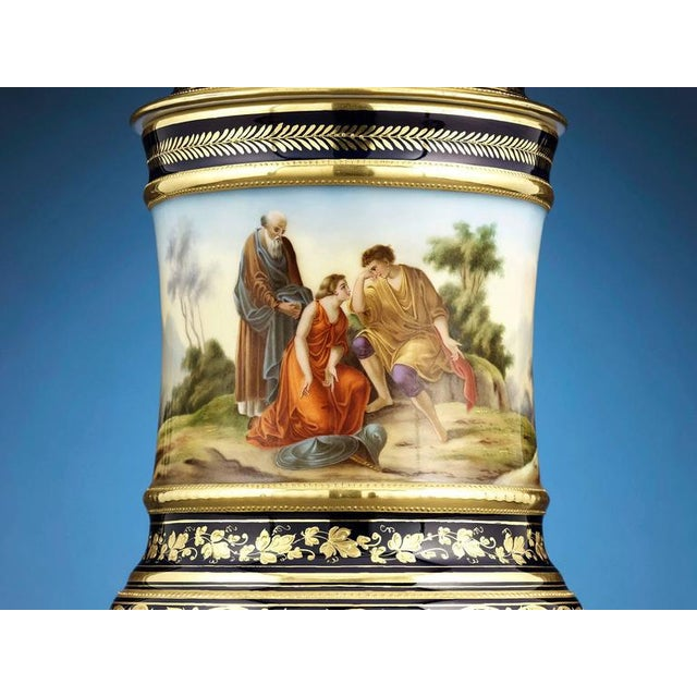 Neoclassical Royal Vienna Porcelain Urn For Sale - Image 3 of 5