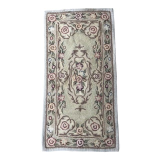 Authentic Antique American Hook Rug - 1′10″ × 3′7″
