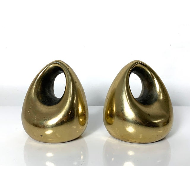 1960's Ben Seibel Brass Orb Bookends - a Pair For Sale - Image 10 of 10