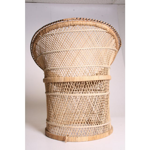 Vintage Boho Chic Wicker Pod Chair - Image 9 of 11