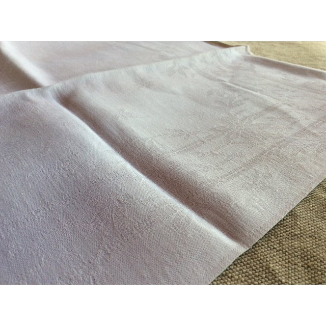 1900 - 1909 Early 20th Century Antique French Linen Napkins - A Pair For Sale - Image 5 of 8