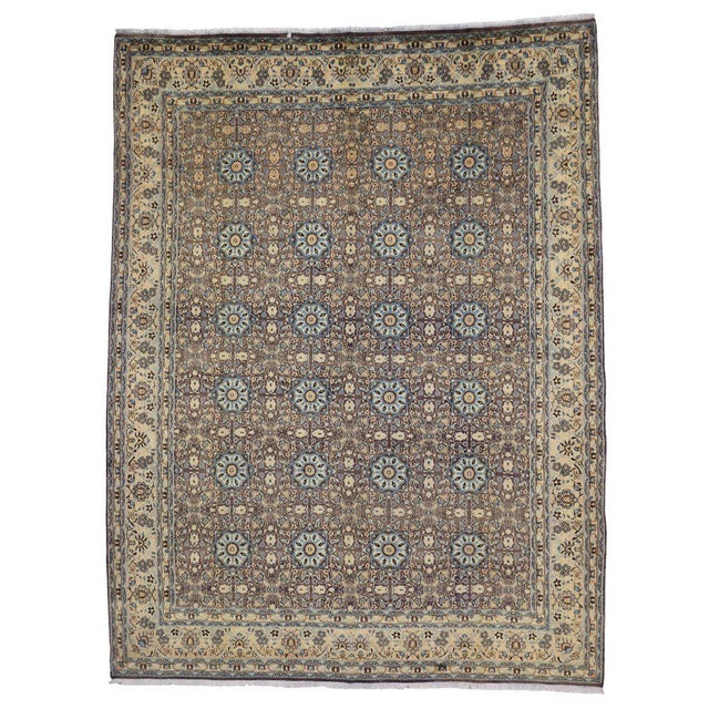 Vintage Persian Moud Mood Rug For Sale In Dallas - Image 6 of 9