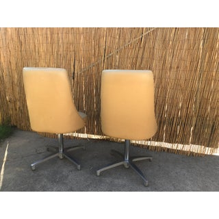 1960s Vintage Chromecraft Leather Swivel Chairs - a Pair Preview