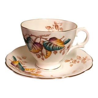 Vintage Alesbury Bone China Teacup and Saucer - 2 Pieces For Sale