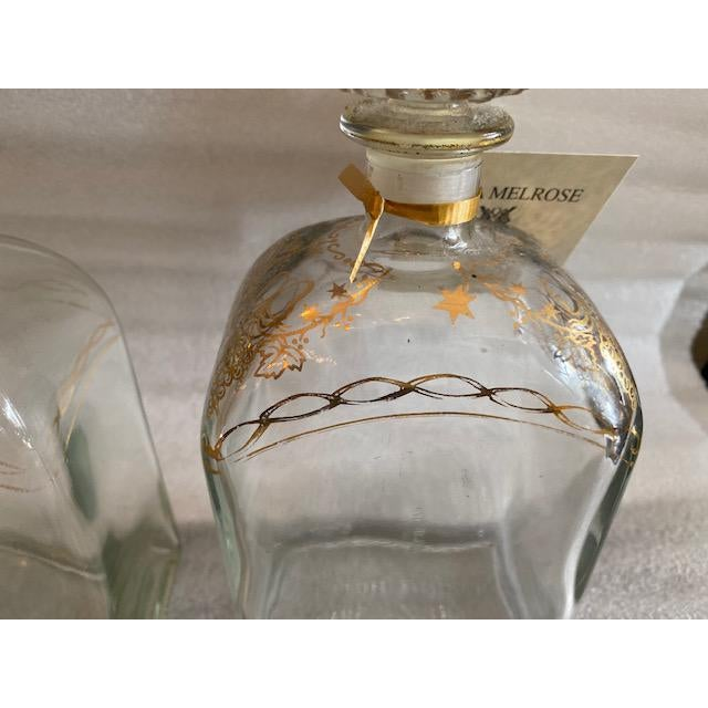 Late 19th C. Spanish Liquor Decanters With Gold Detailing - Set of 3 For Sale - Image 12 of 13