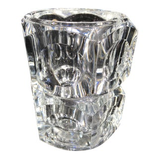 Late 20th Century Crystal Vase From Czech Republic For Sale