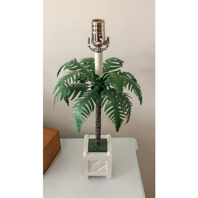 1960s Maison Bagues Tole Lamps, Pair For Sale - Image 5 of 7