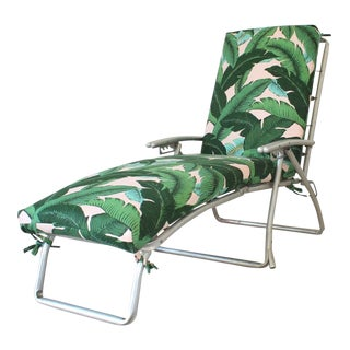 Mid 20th Century Vintage Foldable Poolside Lounger Chair For Sale