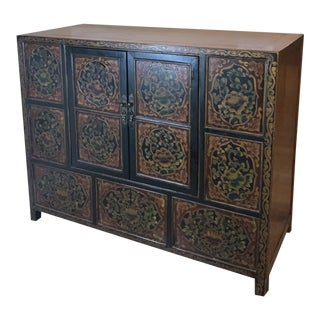 Mid 20th Century Large Oriental Credenza For Sale