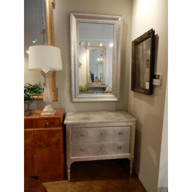 19th Century French Silver Mirror For Sale In New Orleans - Image 6 of 8