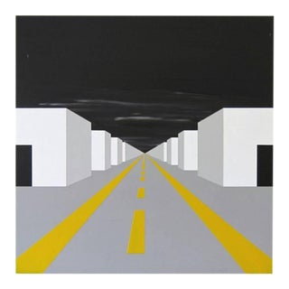 """Jason Wright """"Ruled by Shapes/Destroyed by Geometry"""" Architectural Painting For Sale"""