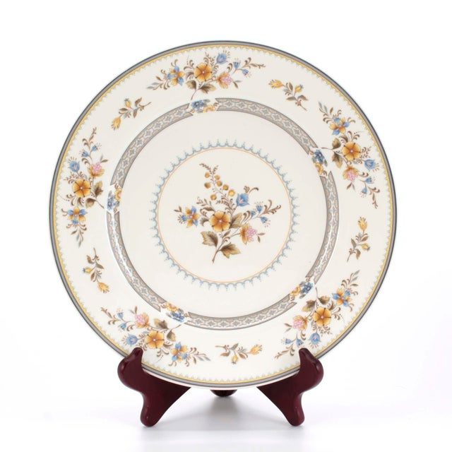 """Set of 32 pieces of circa 70s Mikasa fine bone china made in Japan. In their """"Chippendale"""" pattern which has blue, brown..."""