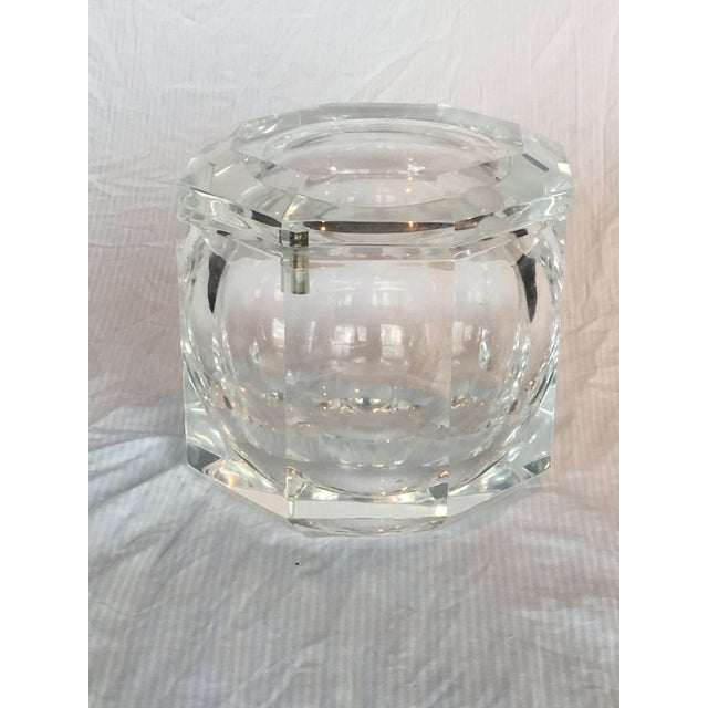 Extra Large Modern Faceted Lucite Decorative Box or Ice Bucket - Image 2 of 5
