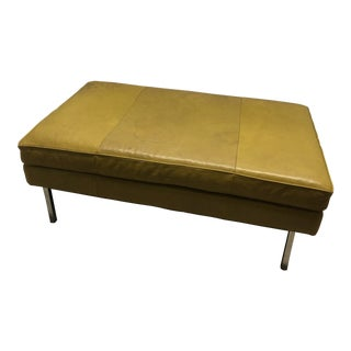 Early 21st Century Vintage Design Within Reach Leather Ottoman For Sale