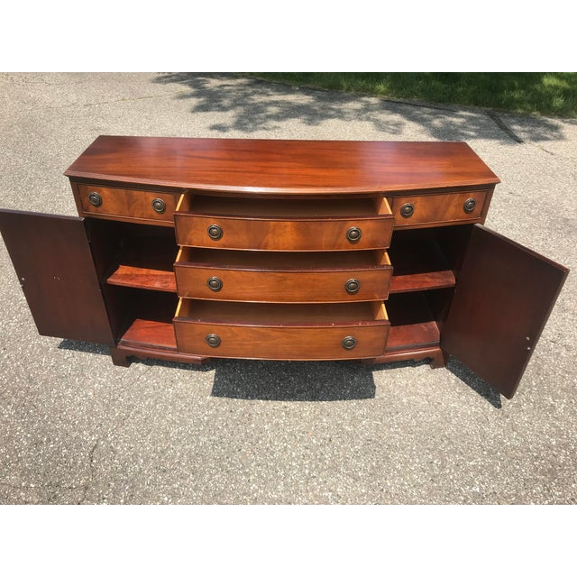 Mid 20th Century Walnut Credenza With Tambour Doors by Baker Furniture For Sale - Image 5 of 12