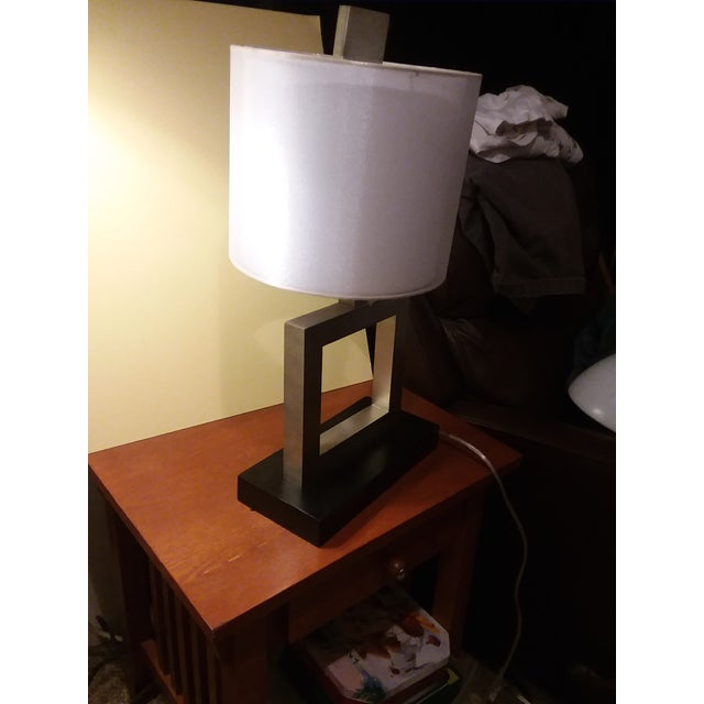 Contemporary Modern Minimalist Square Table Lamp For Sale - Image 3 of 9