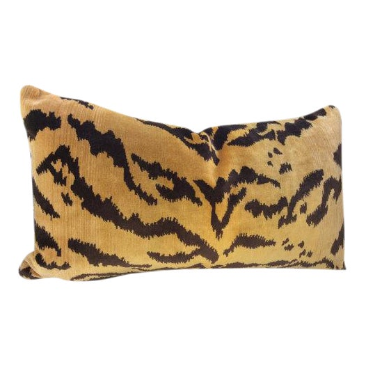 """Scalamandre Scalamandre Gold & Black """"Tigre"""" Pillow For Sale - Image 4 of 4"""