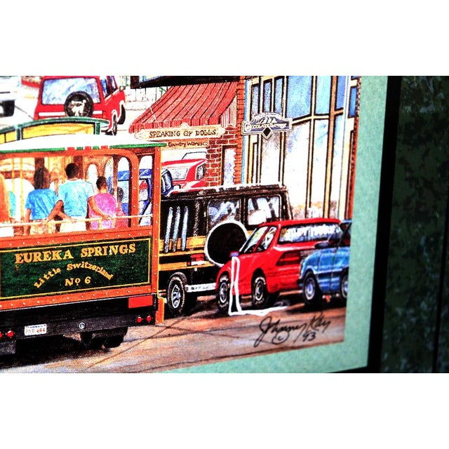 """1993 """"Street Scene"""" Framed and Matted Color Print Signed Johnny Ray For Sale In Palm Springs - Image 6 of 11"""