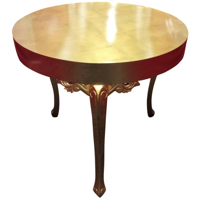 Gold Round Entry Table - Image 1 of 9