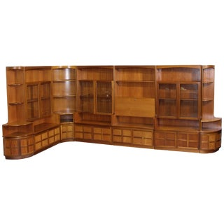 Mid Century 7 Piece Teak Wall Unit by Nathan Furniture For Sale