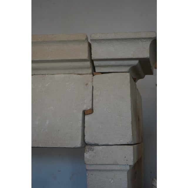 17th Century Louis XIII Style French Limestone Mantel, circa 1650 For Sale - Image 5 of 7