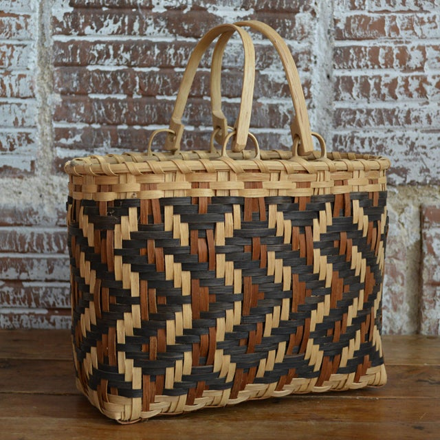 Carol Welch Cherokee White Oak Purse Basket - Image 2 of 10