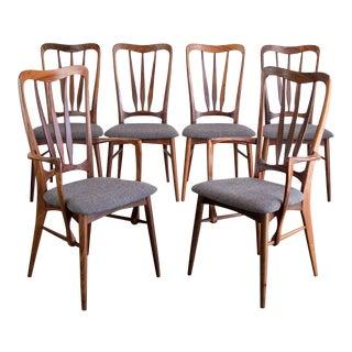 Danish Rosewood 'Ingrid' Chairs by Niels Koefoed, Set/6 For Sale