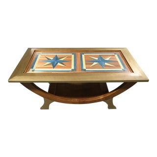 Mid-Century Modern Inlay Coffee Table For Sale