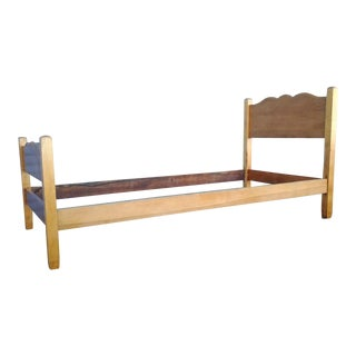 Vintage 1930's Maple Twin Bedframe For Sale
