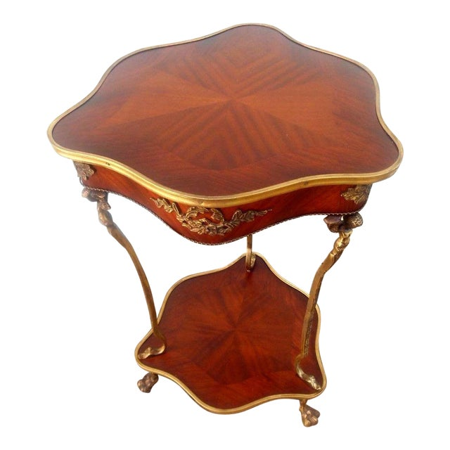 Nwt Vintage French Louis XVI Rococo Style Accent Table For Sale