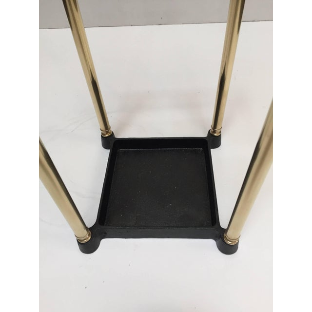 Traditional Victorian Polished Brass and Cast Iron Umbrella Stand Valet For Sale - Image 3 of 9