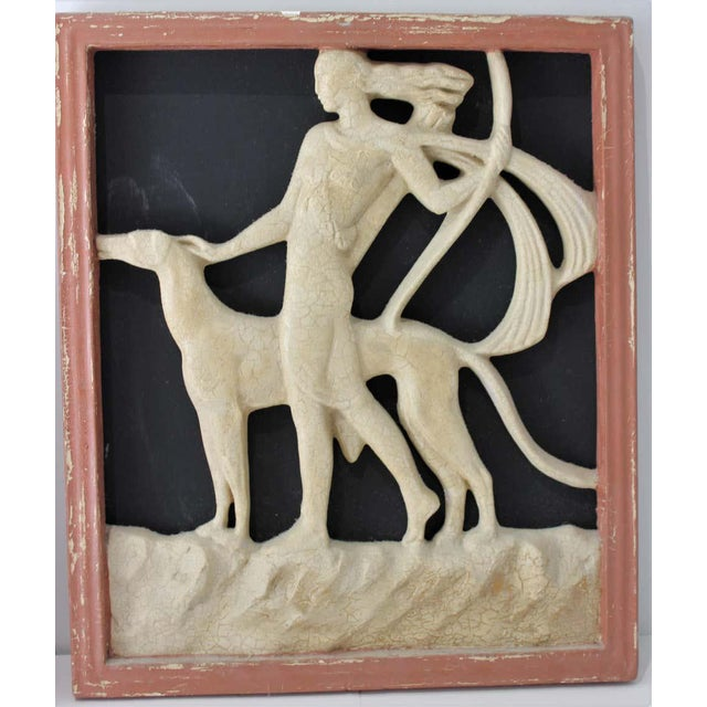 Paper Art Deco 1920s Wall Plaques - a Set of 2 For Sale - Image 7 of 13