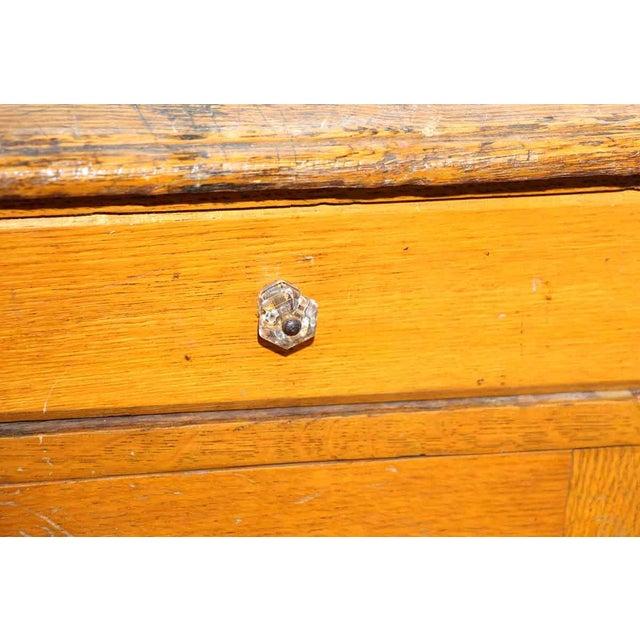 Restorable Oak Wood Library Desk - Image 3 of 8