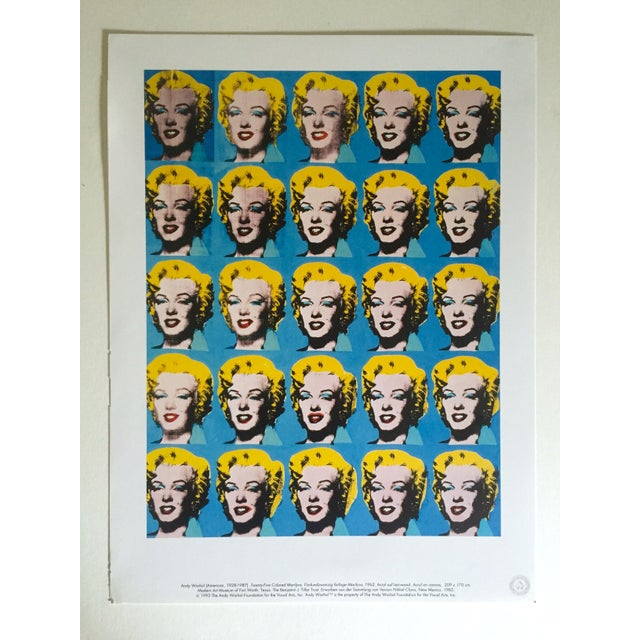 """Andy Warhol Foundation Rare 1993 Lithograph Print """"Twenty Five Marilyns"""" 1962 For Sale - Image 10 of 10"""
