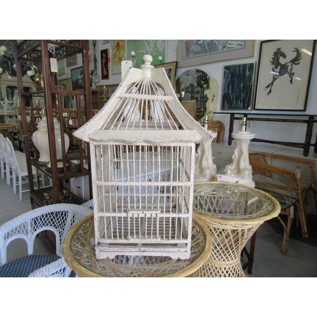 Vintage Painted Bird Cage - Image 2 of 7