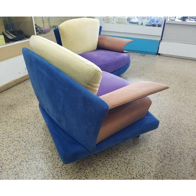 Modern 1990s Vintage Saporiti Modern Lounge Chairs - A Pair For Sale - Image 3 of 8