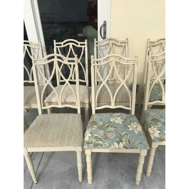 Vintage Thomasville Faux Bamboo Chinoiserie Hollywood Regency Chairs - Set of 10 For Sale - Image 9 of 11